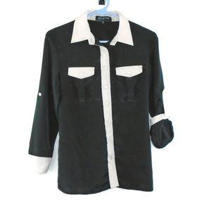 Jones New York Button Down Dress Shirt Small